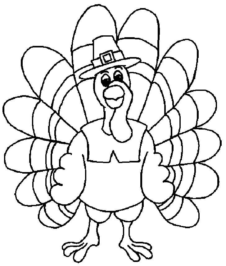 Thanksgiving Turkey Coloring Pages Printables - Picture 1