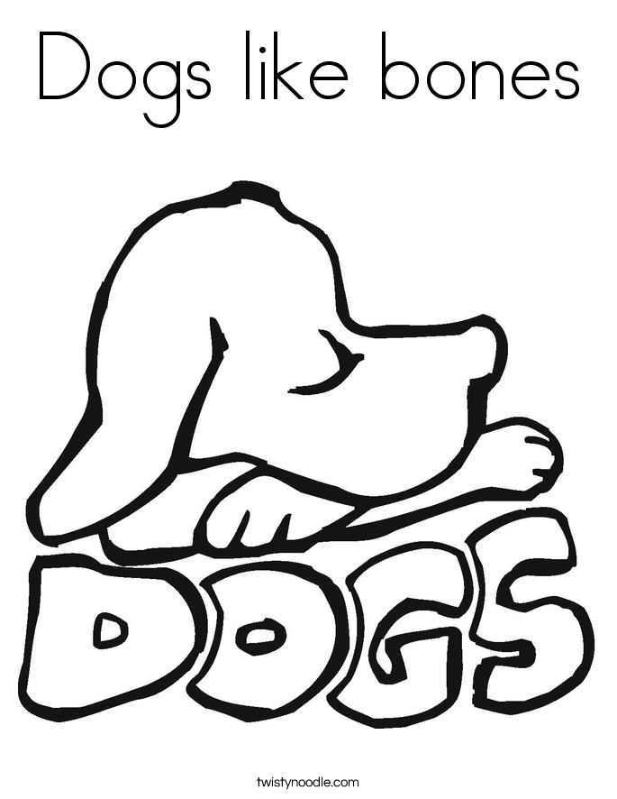 Dog Bone Coloring Page AZ Coloring