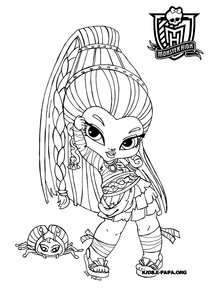 Monster High Characters To Print Coloring Home