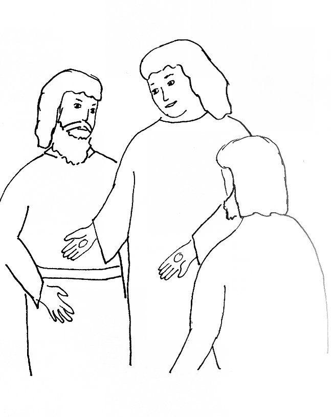Jesus Teaches Nicodemus Coloring Page