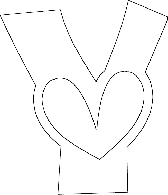 Letter y coloring pages az coloring pages for Letter y coloring pages