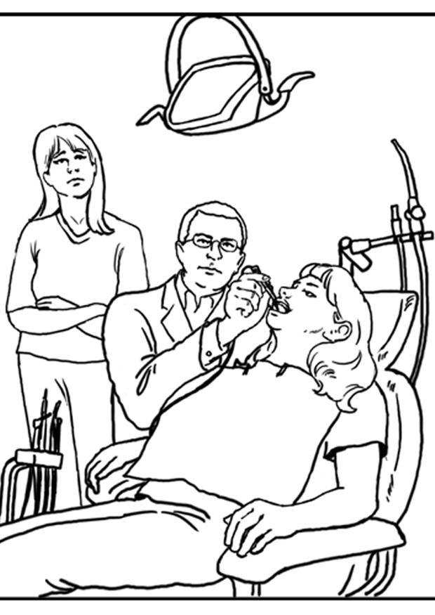 Dentist-coloring-15 : Free Coloring Page Site