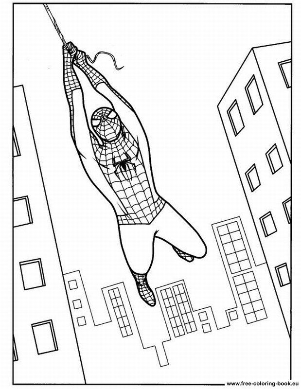 spiderman ice Colouring Pages