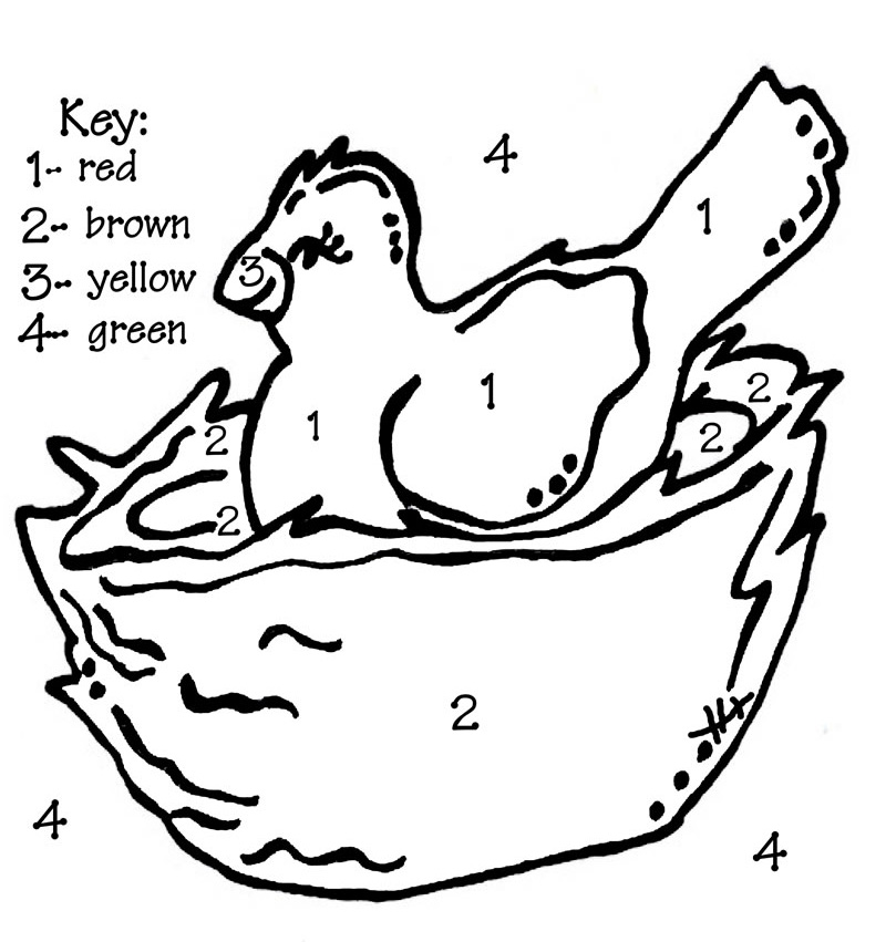 bird in nest coloring pages - photo#26