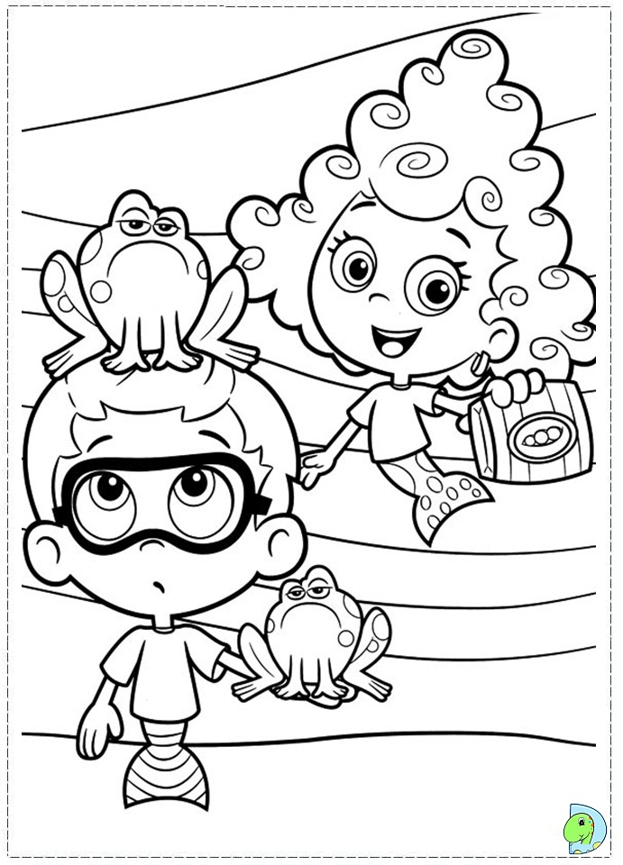 guppy coloring pages - bubble guppies coloring sheets az coloring pages