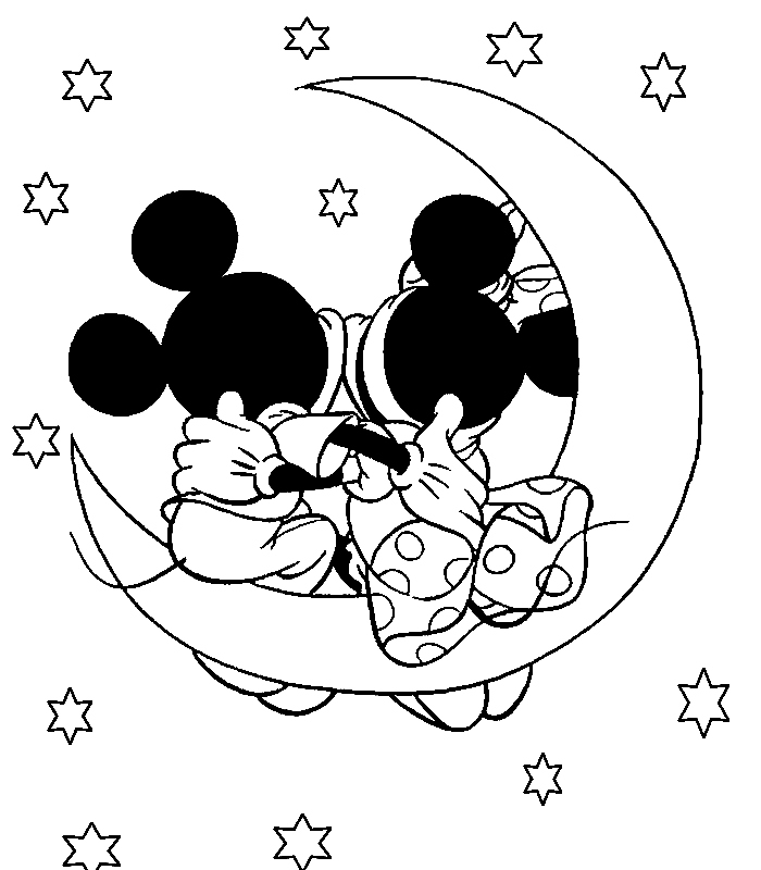 Disney Valentine Day Coloring Pages
