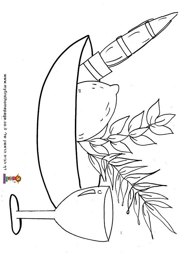 Sukkot Colouring Pages