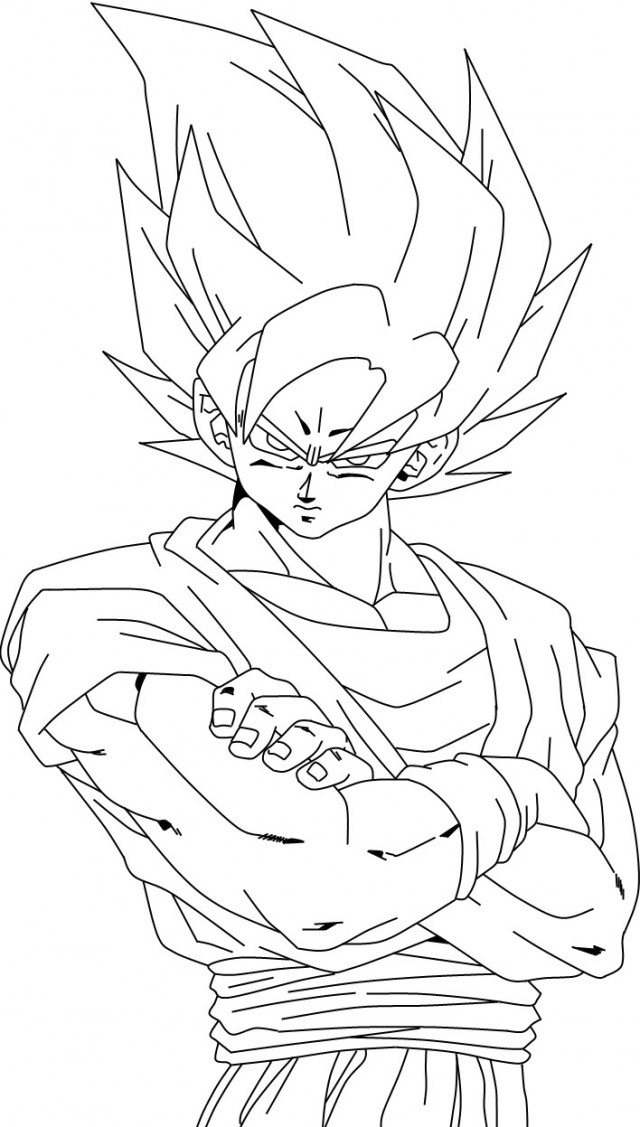Coloring Pages Goku Super Saiyan Fedical 233167 Goku Coloring Pages