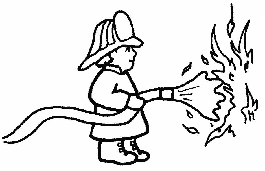 Fireman Hat Coloring Pages Coloring Home
