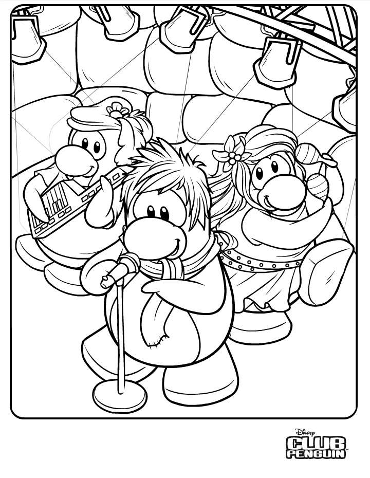 club penquin coloring pages - photo#11