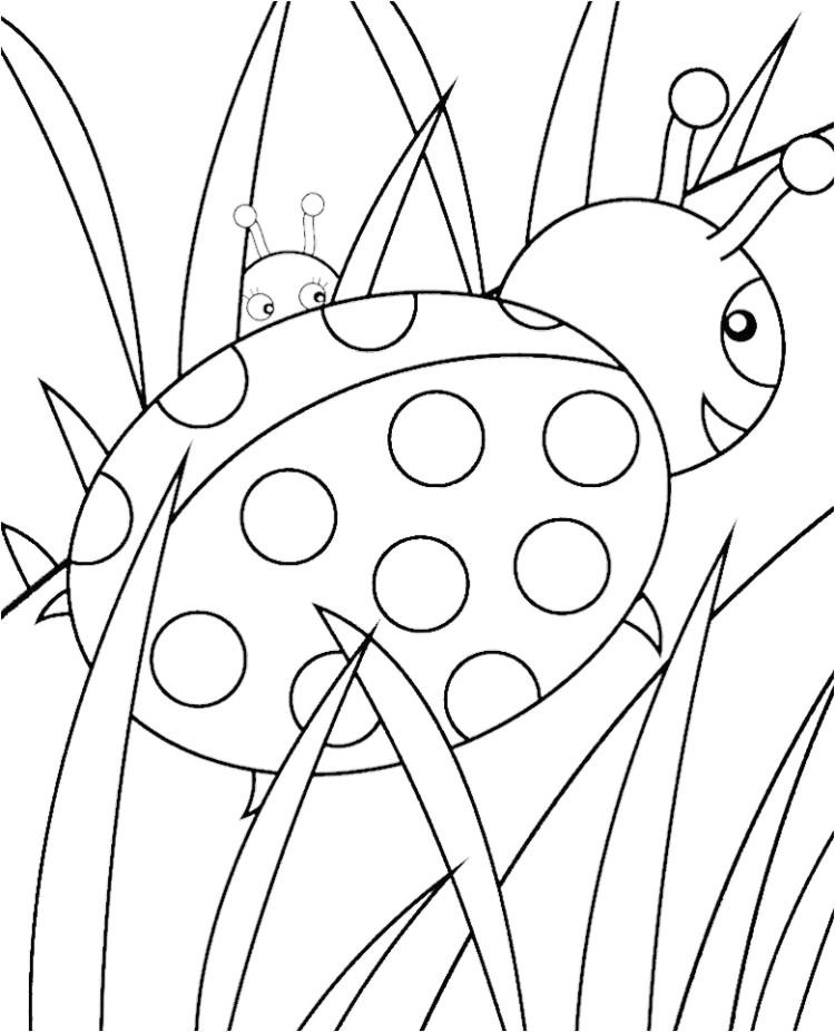 Coloring Pages Ladybug : Cute ladybug coloring pages az