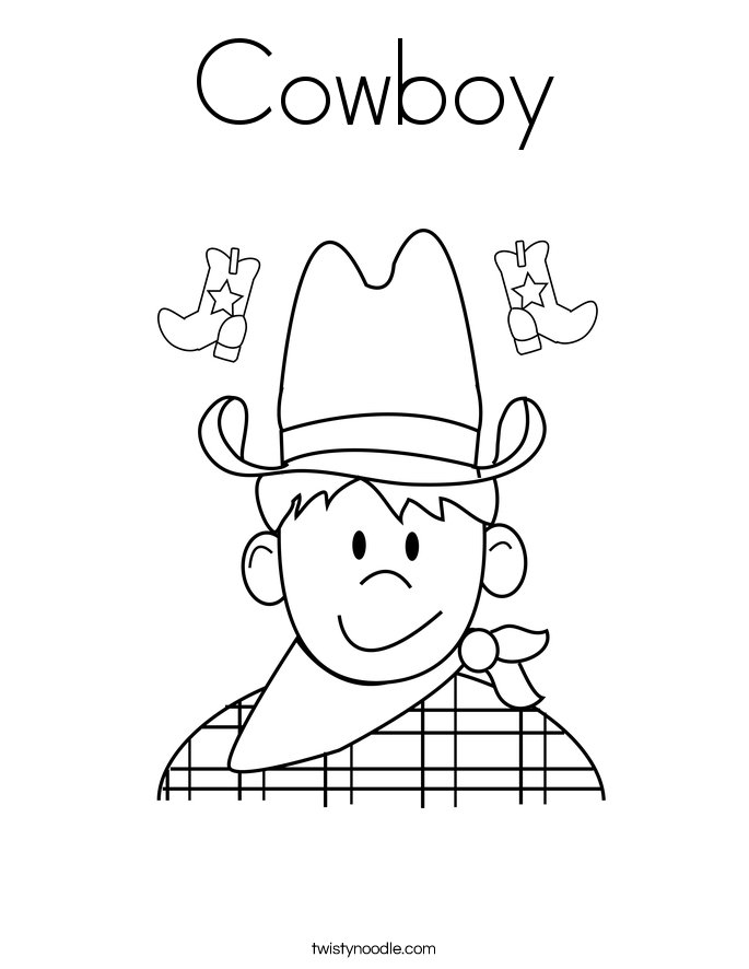 Cowboy Rifle Coloring Pages