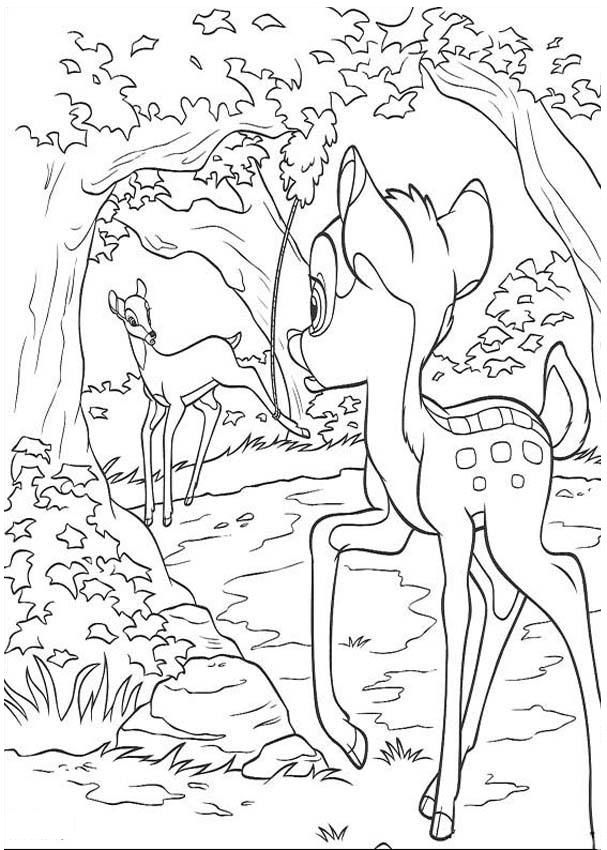 bambi mom coloring pages - photo#28