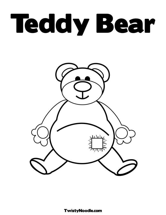 Teddy bear color page az coloring pages for Teddy coloring pages