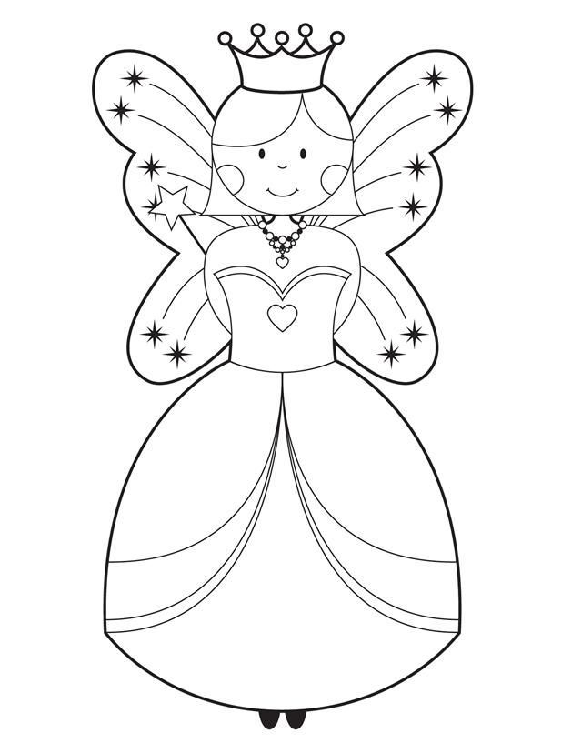 Fairy - Free Printable Coloring Pages | Rainbow Fairy Princess Birthd…