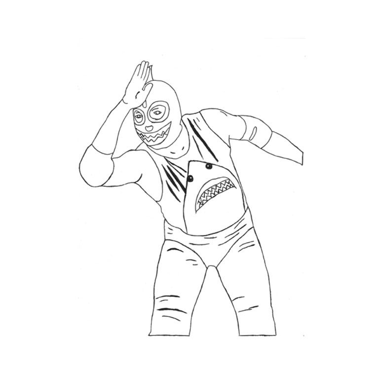 Wwe superstars coloring pages coloring home for Wwe rey mysterio mask coloring pages
