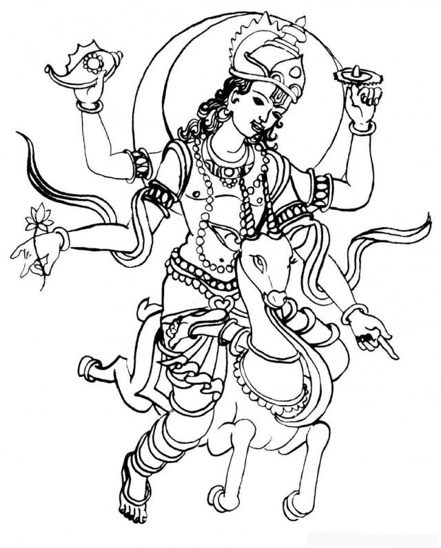 Line Art Hindu Gods : Hindu coloring pages home