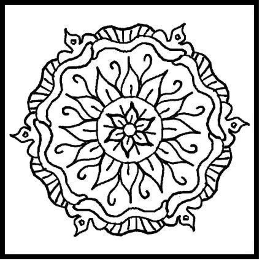 pattern coloring pages printable free - photo#24