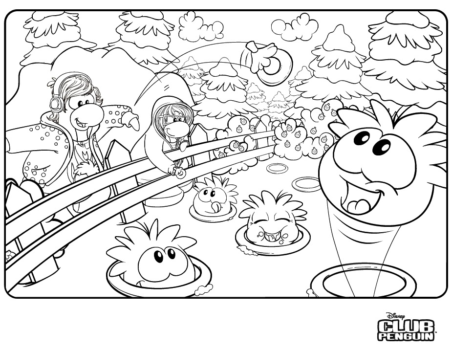 club penquin coloring pages - photo#4