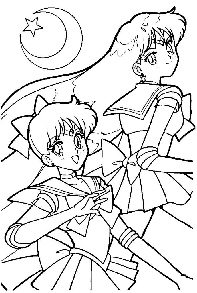 Sailor venus coloring pages az coloring pages for Sailor venus coloring pages