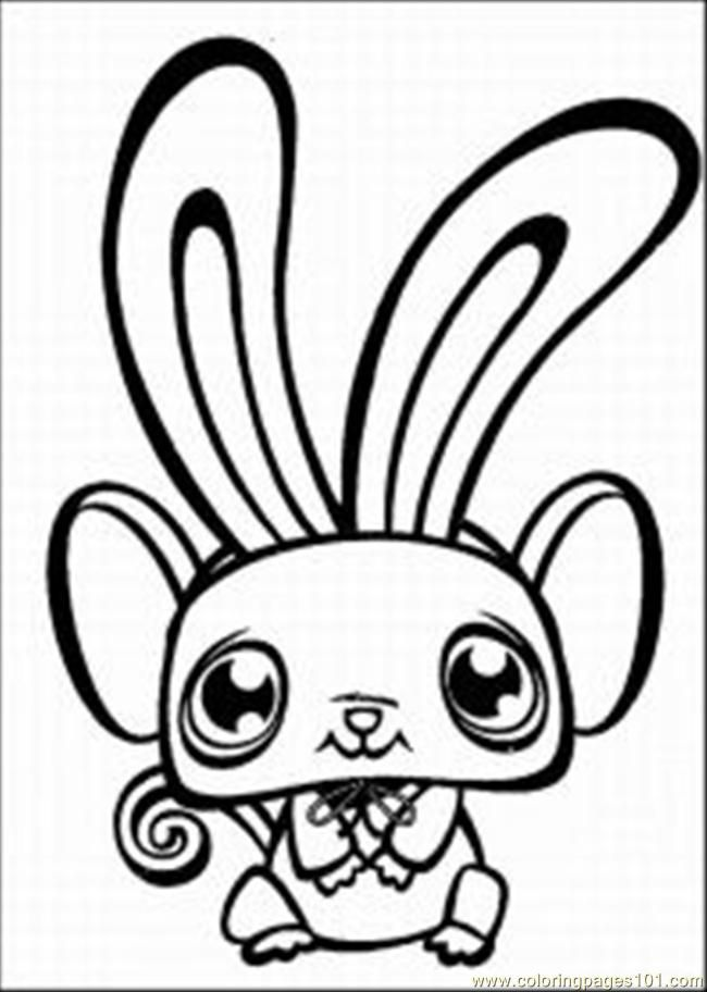Coloring Pages Shop 1 Med (Cartoons > Littlest Pet Shop) - free