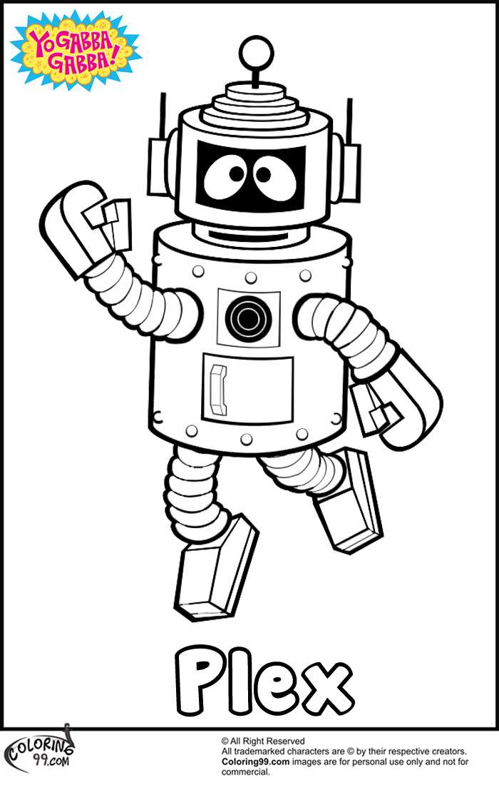 Yo Gabba Gabba Plex Coloring Pages | Team colors