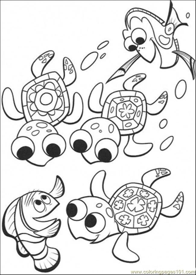 Coloring Pages Nemo And Friends (Cartoons > Finding Nemo) - free