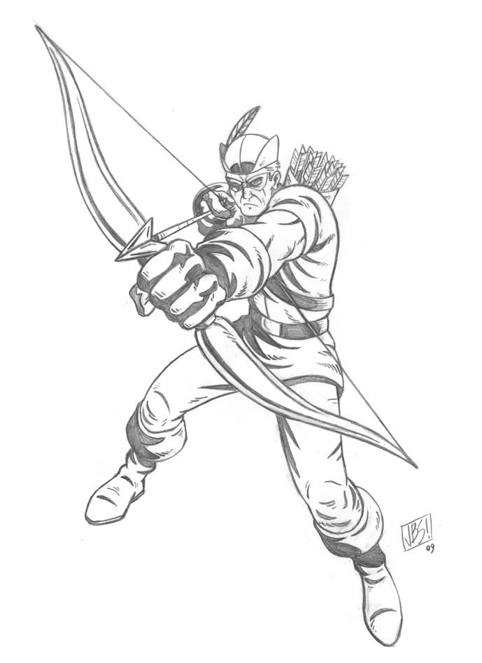 Green Arrow Coloring Pages Coloring Home