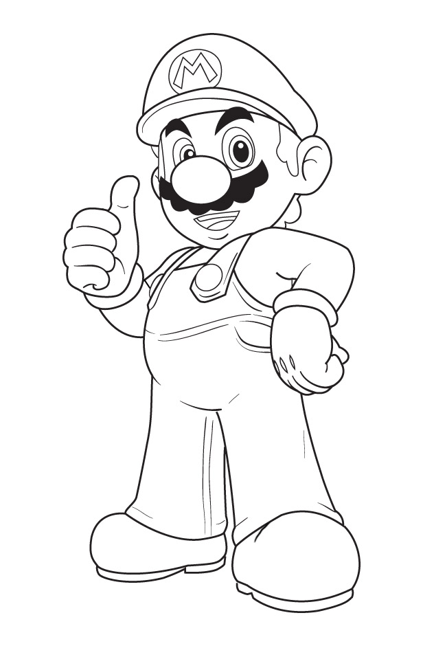 Mario Coloring Page | Coloring Pages
