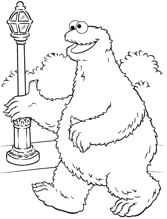 Monsters Cookie Sightseeing At Garden Coloring Pages - Cookie