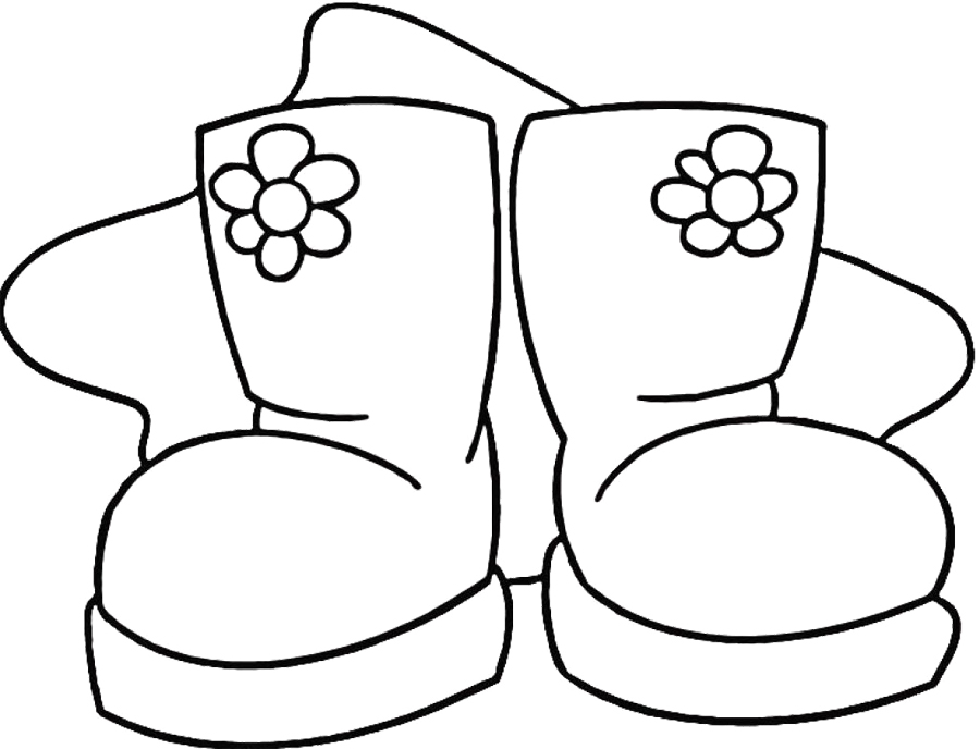 Snow-Boots-Coloring-Page jpgWinter Boots Coloring Pages