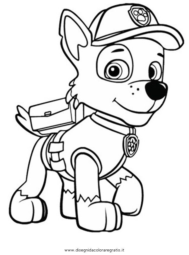 Printable Coloring Pages Of Paw Patrol : Rocky paw patrol colouring pages