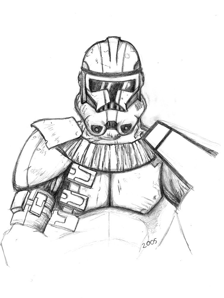 Star Wars Clone Trooper Coloring Pages Coloring Home