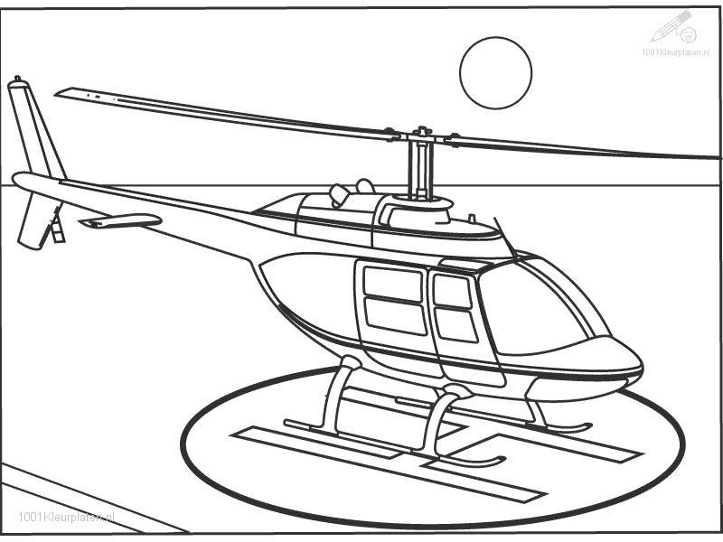 Helicopter Coloring Pages For Kids