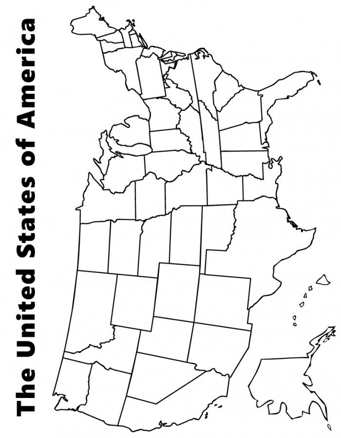 coloring pages of united states - coloring pages united states map coloring home