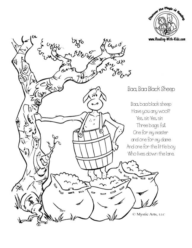 Nursery Rhyme Coloring Pages Pdf : Nursery rhymes coloring home