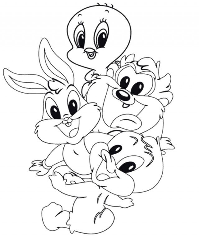 Looney Tunes Tweety Bird Coloring Pages Tasmanian