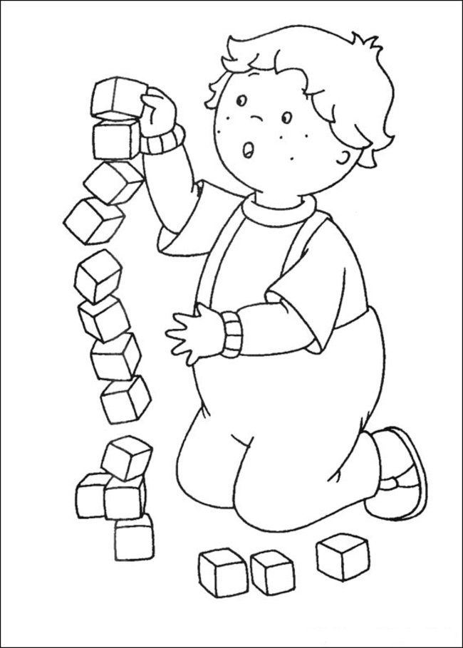 Caillou Coloring Pages Pdf : Caillou coloring pages online picture free