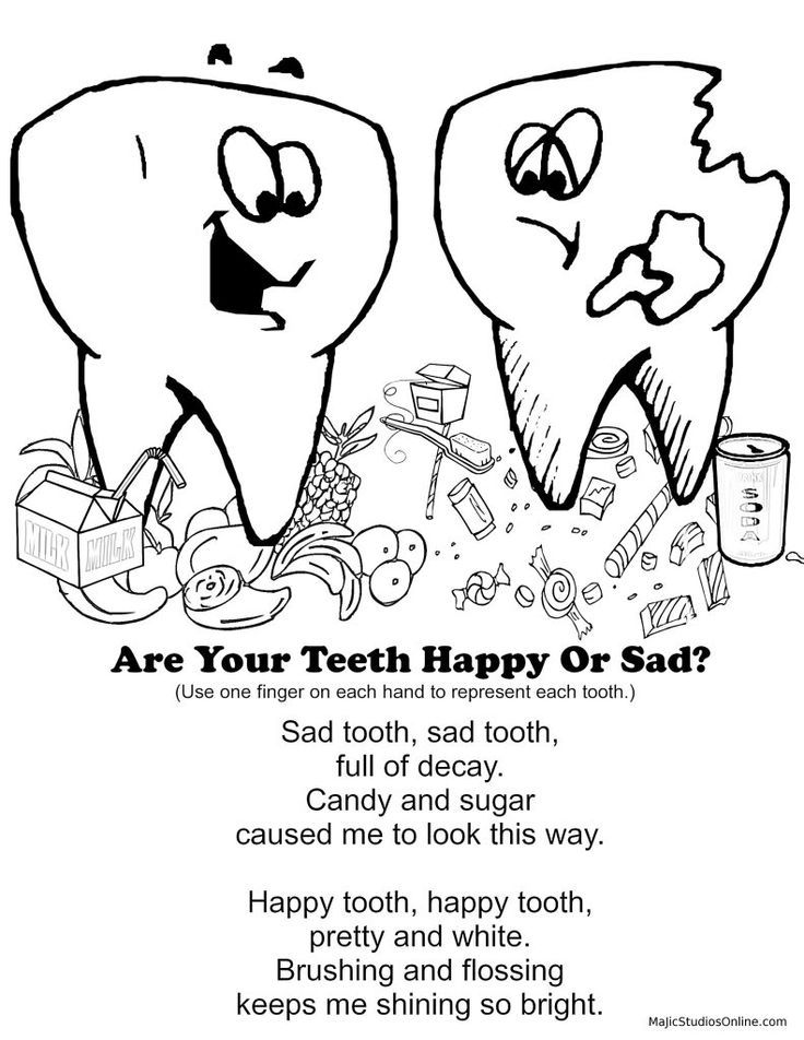 Dental Health Coloring Pages Kids Coloring Home Free Dental Coloring Pages