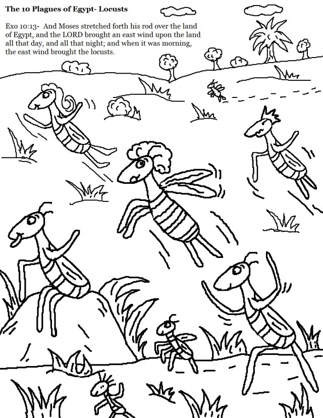 moses in egypt coloring pages - photo#24