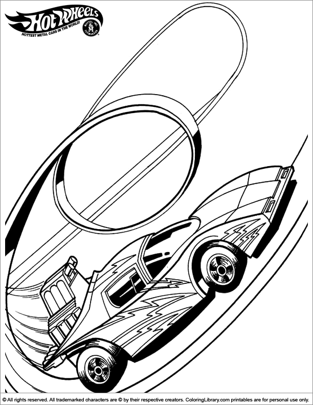 Hot Wheels Coloring Page Coloring Home