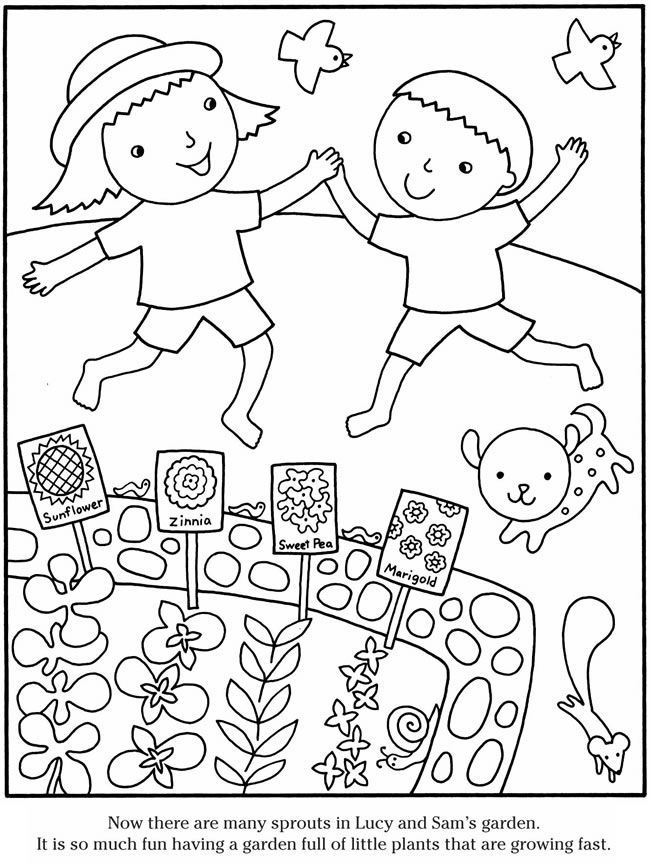 simple garden coloring pages images pictures becuo