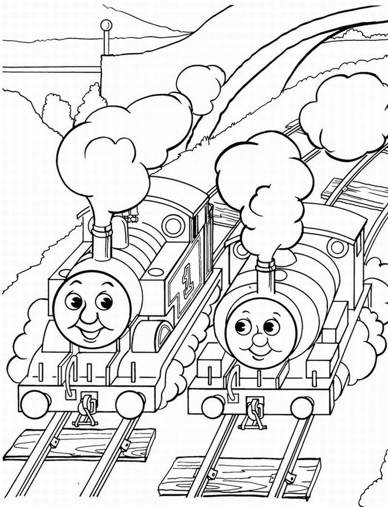 Free train coloring pages coloring home for Printable thomas the train coloring pages