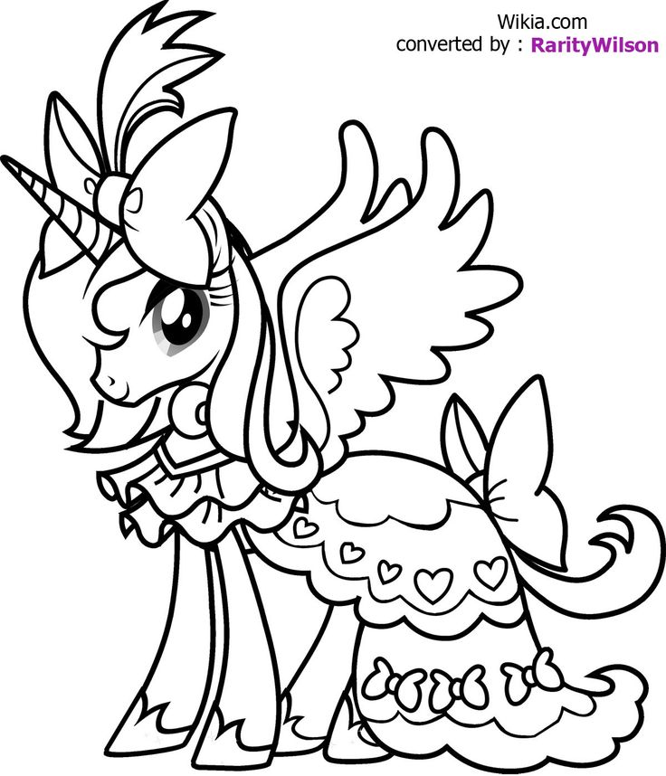 Coloring Pages Of Princess Luna : Princess cadence coloring pages az