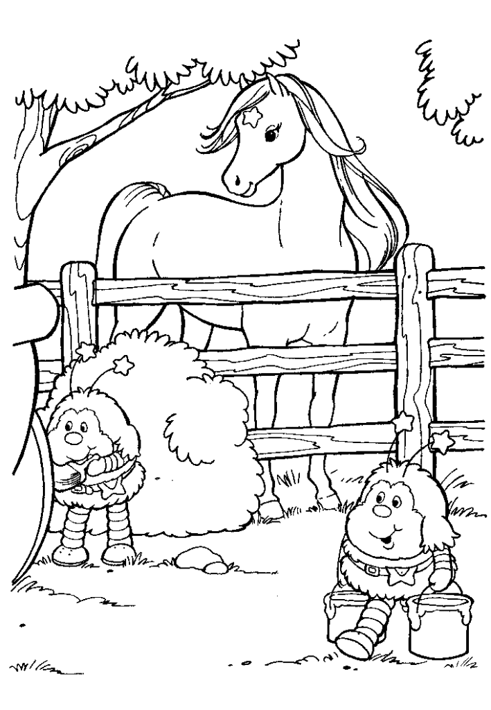 Rainbow Brite Color Kids Coloring Home - rainbow bright printable coloring pages