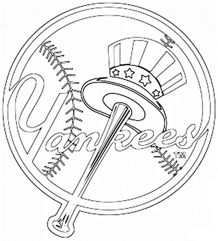Yankee coloring pages printables ~ Pics Of New York Yankees Logo - Coloring Home