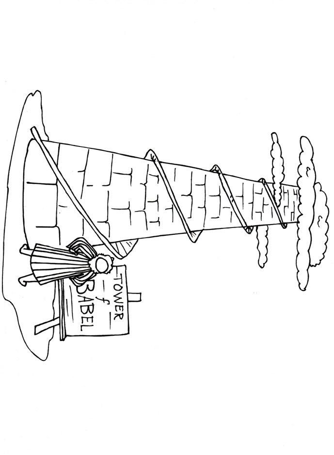 Tower of babel coloring page coloring home for Tower of babel coloring pages for kids