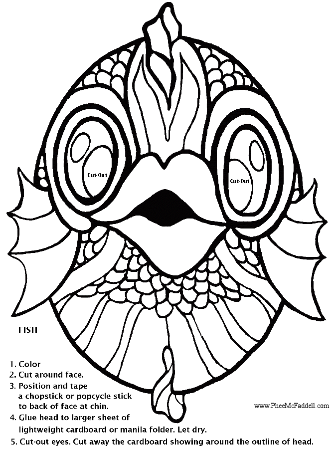 Fish Template Cut Out AZ Coloring