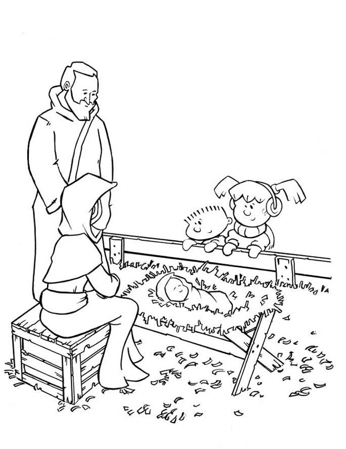 Baby jesus christmas story coloring home for A christmas story coloring pages