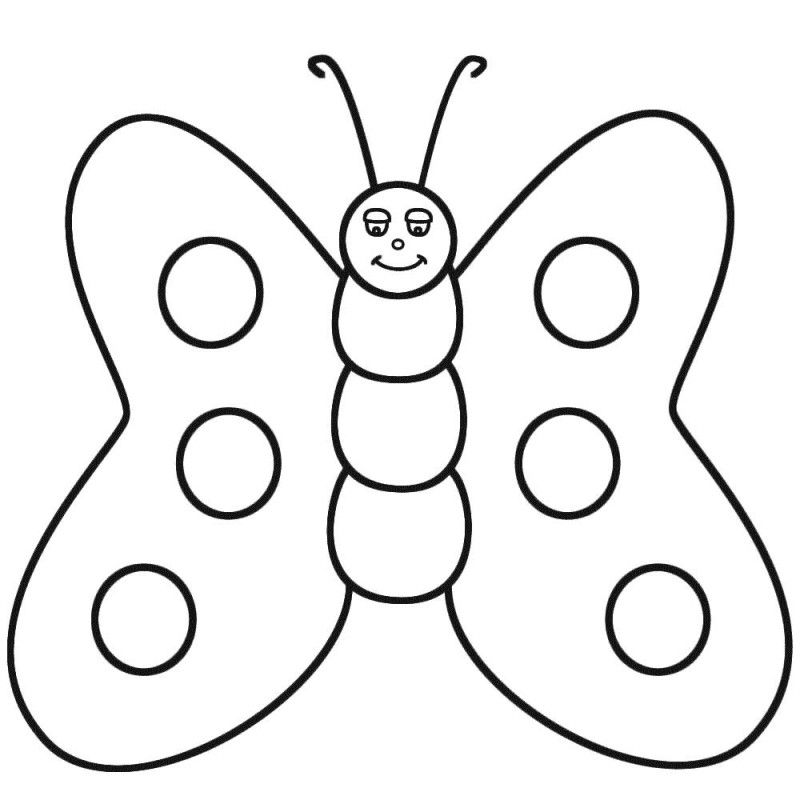 Butterfly Color Sheet - Coloring Home
